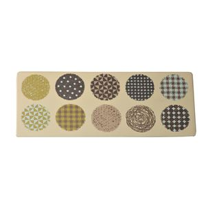 キッチンマット PVC使用 抗菌防臭 『マリオン』 ベージュ 約50×122cm 裏:すべりにくい加工