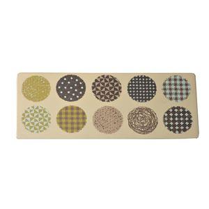 キッチンマット 180 PVC使用 抗菌防臭 『マリオン』 ベージュ 約50×180cm 裏:すべりにくい加工