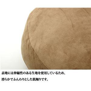 クッション 無地 セアテ 『ルナもち2』 レッド 約40R×6cm