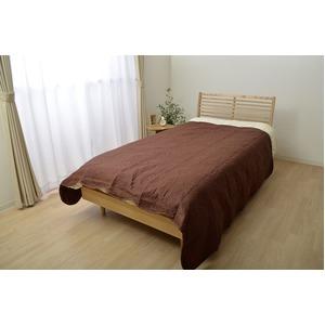 オールシーズン使用 キルトタイプ 洗える マルチカバー 長方形 『シェール』ブラウン 約190×240cm