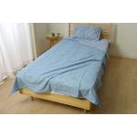 ケット シングル 洗える なめらか 『モダール 合わせケット』 ブルー 約140×190cm