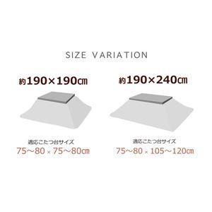 こたつ布団 正方形 掛け単品 『エトロ』 ネイビー 約190×190cm