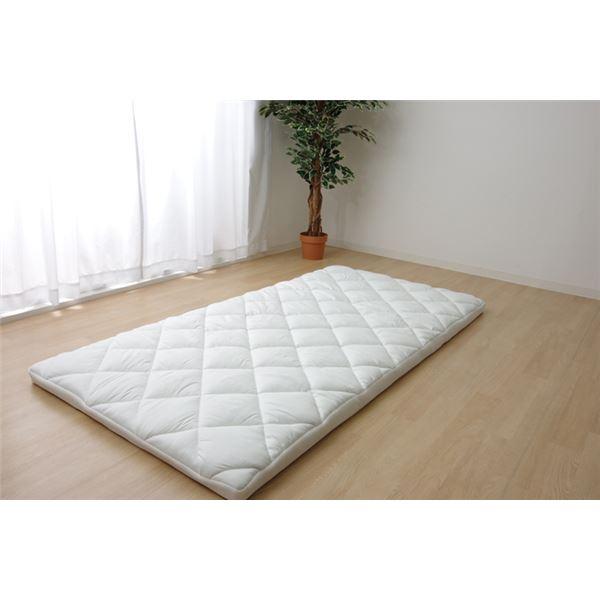 敷き布団 シングル 寝具 洗える 無地 『ライトウェーブマットレス』 約100×210cm