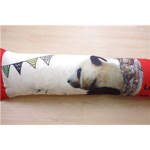 ピロー 洗える やわらかい 枕『デジタルプリント抱き枕』パンダ 約30×110cm