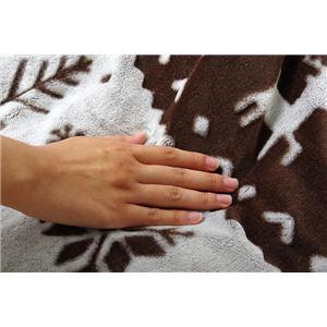 こたつ布団/こたつ掛け布団 単品 【ブラウン 約190×240cm】 長方形 洗える ノルディック柄 薄手 『セスタ』