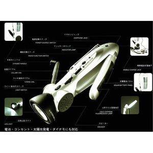 スターリング ターボ 6000 手回し発電ラジオライト - 拡大画像