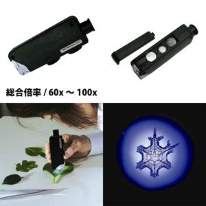 LEDコンパクト顕微鏡60~100 MG1008-1