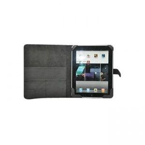 iPad専用レザーケース PU LEATHER CASE for iPad 黒 FJK-C406(HandbookType) - 拡大画像