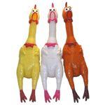 大声で鳴くニワトリ(shrilling chicken)43cm イエロー