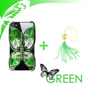 iphone4/4S用ケースエレガンスバタフライグリーン