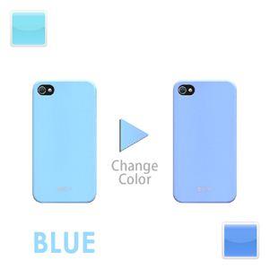 iphone4/4S用色が変わるケースブルー