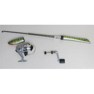 魚型携帯釣り竿&リールセット - 拡大画像