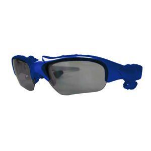 MP3プレーヤー付きサングラス ブルー - 拡大画像