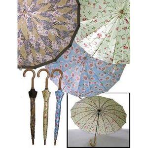 デイリーアンブレラ(16本骨傘) ブルーフラワーの商品画像
