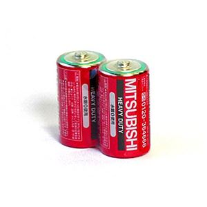 三菱(赤)マンガン乾電池単1(2P)R20P/2S【10個セット】36-299