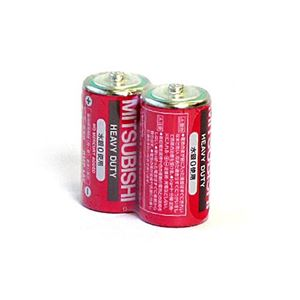 三菱(赤)マンガン乾電池単2(2P)R14P/2S【10個セット】36-300