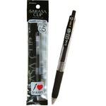 ゼブラサラサクリップジェルボールペン0.5細字(黒) 【10個セット】 31-614