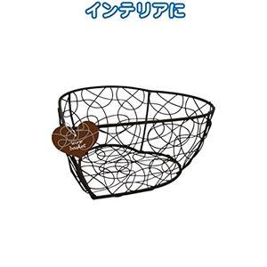 シャビー ワイヤー細工バスケット(ハート17×17×8cm) 【12個セット】 38-722