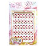 フェイクパールハートシール(ホワイト&ピンク) 【12個セット】 38-759