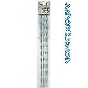 ラインストーンシールロングタイプL(クリア・4mm) 【12個セット】 44-206