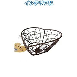リーフ ワイヤー細工バスケット(ハート14×14×5cm) 【12個セット】 44-224