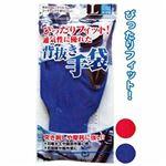 ぴったりFit滑りにくいニトリルゴム背抜手袋(L) 【12個セット】 45-622