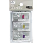 カラータイプホッチキス針No.10(3箱入) 【12個セット】 32-843