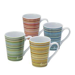 ヘアーラインマグカップ(陶器) 【12個セット】 1114