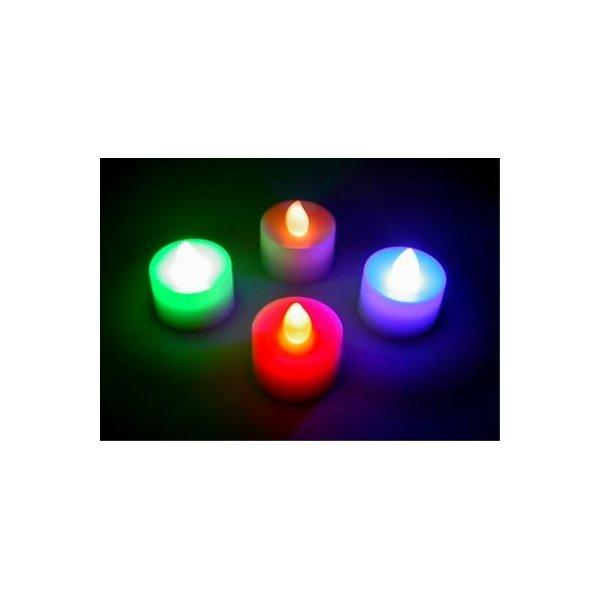 ジャンクインテリア部屋作りに 光るローソク12p