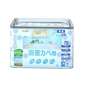 NEW水性インテリアカラー浴室カベ バニラホワイト 5L
