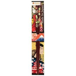 田中箸店 日本デザイン箸 日本の秋 茶 22.5? 068091の画像1