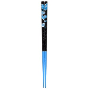 日本製 Japan 若狭 田中箸店 ダイエット応援箸 ハート ブルー(食洗対応) 22.5cm 066486