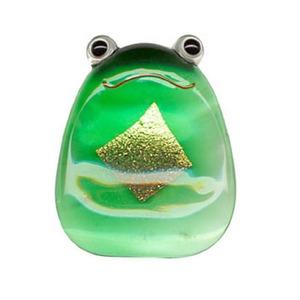田中箸店 ガラス箸置(金箔入) 金かえる 054223