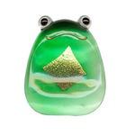 田中箸店 ガラス箸置(金箔入) 金かえる 054223の画像