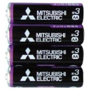 三菱 黒マンガン乾電池単3(4本入)R6PUE/4S 36-358 【10個セット】