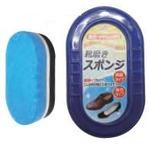 靴磨きスポンジ(両面・透明タイプ)【12個セット】 093-12