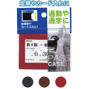 多収納パスケース(裏面ポケット付)アソート 【12個セット】 24-105