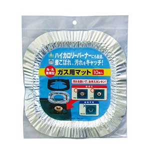UACJ製箔 ガス用マット角丸兼用型10枚入 39-327 【10個セット】