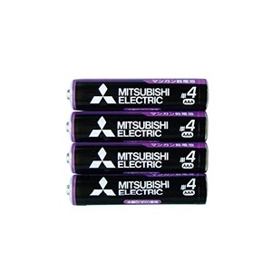 三菱 黒マンガン乾電池単4(4本入)R03UE/4S 36-359 【10個セット】