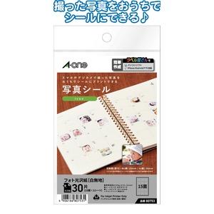 日本製 made in japan A-one写真シール30片Icon20×20mm80753 32-982 【10個セット】