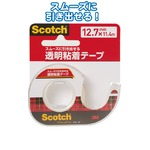 3M Scotch透明粘着テープ12.7mm×11.4m 144JP 32-978 【12個セット】