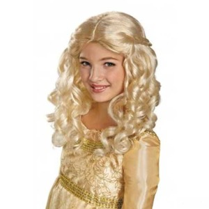 ディズニー DISNEY 眠れる森の美女 オーロラ姫 子供用 ウィッグ - 拡大画像
