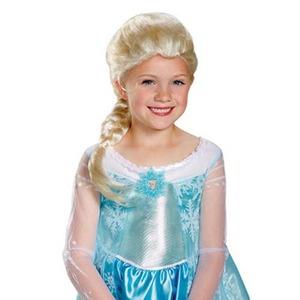 コスプレ女子会・結婚式余興ディズニー DISNEY アナと雪の女王 グッズ エルサ子供用 ウィッグ - 拡大画像