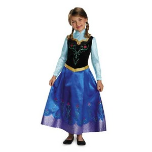 ディズニー DISNEY アナと雪の女王 アナ 旅の衣装 子供用S コスチューム  h02