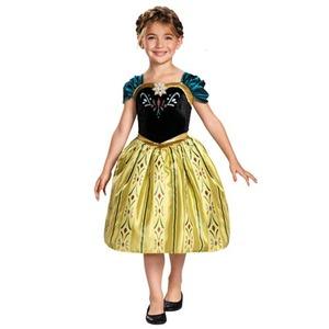ディズニー DISNEY アナ ドレス ワンピース 戴冠式 フォーマルドレス コスチュームS - 拡大画像