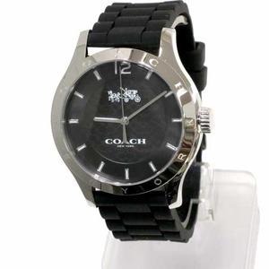 COACH コーチ アウトレット MADDY ブラック ラバー ストラップ ウォッチ レディース / 腕時計 - 拡大画像