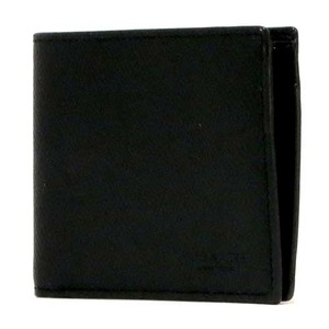 COACH コーチ アウトレット クロスグレーン レザー コイン ウォレット / 二つ折り財布 h01