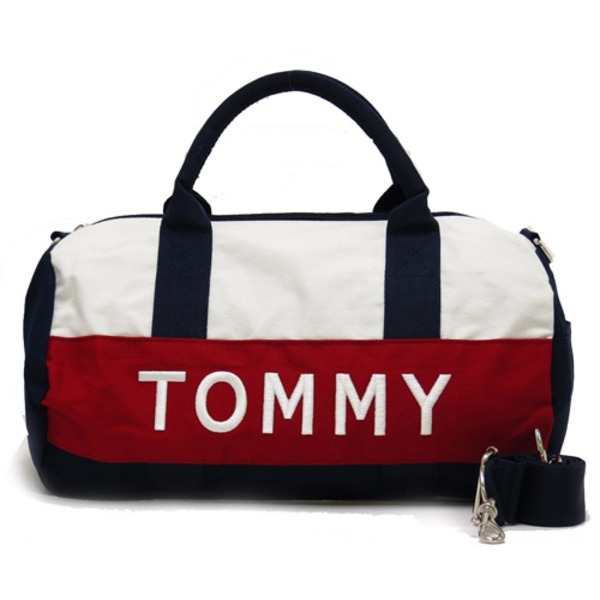 TOMMY HILFIGER トミー ヒルフィガー アウトレット ミニダッフル ミニボストンバッグ (レッド)f00