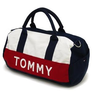 TOMMY HILFIGER トミー ヒルフィガー アウトレット ミニダッフル ミニボストンバッグ (レッド) h02