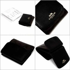 COACH コーチ アウトレット シグネチャー PVC レザー スモール ウォレット / 二つ折り財布 h02
